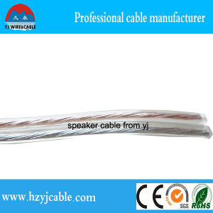 Flat Twin Cores Transparent Speaker Cable CCA pictures & photos