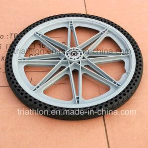 9X1.75 10X2 12X2.125 16X1.75 20X1.75 20X2 PU Foam Flat Free Tire with Plastic Rim pictures & photos