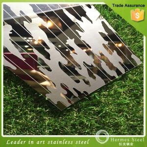 430 Color Mirror Etching Decorative Stainless Steel Sheet Metal pictures & photos