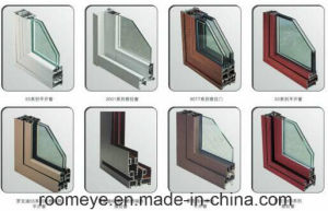 Hot Sale Aluminium Casement Door with Tempered Glass and Grill Design pictures & photos