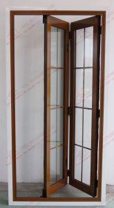 Aluminium Double Folding Door for Toilet (BHA-DBF15) pictures & photos