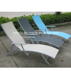 Suntime Garden Aluminum Patio Outdoor Textilene Chaise Lounge pictures & photos