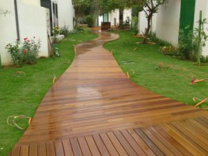 Unfinished Foshan Crack-Resistant Teak Wood Decking pictures & photos