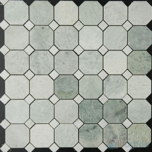 China Polished Octagon Carrara White Marble Tiles Mosaic