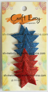 Glittered Single Side Foam Shape Stickers for DIY Projects pictures & photos