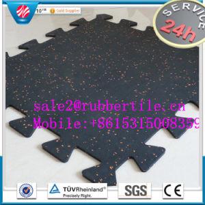 Park Interlocking Rubber Flooring Mat/Rubber Gym Floor Mat pictures & photos