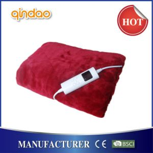 Auto Timer Luxury Flannel Warm Over Blanket with BSCI Certificate pictures & photos