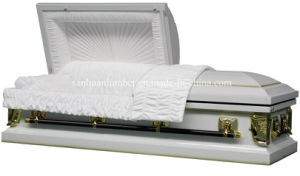 18 Ga Steeel Casket with Silver Color 1201s pictures & photos