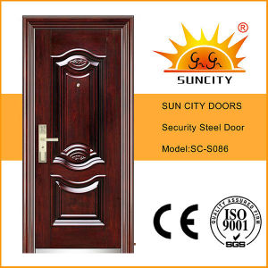 Sun City Steel Doors Promotion with Cheap Price (SC-S086) pictures & photos