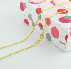 Gold-Plated Necklace, Silver Jewelry Chain Necklace, Decoration Jewellery pictures & photos