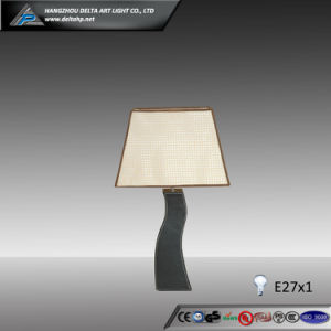 Designer Paper Table Lamp with Curved Wooden Base (C5004107) pictures & photos