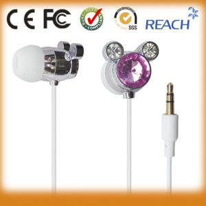 Wholesale Price Diamond Earphone Cute Earphones for Kids pictures & photos