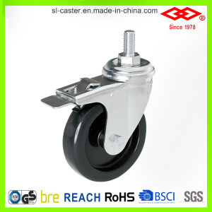 125mm Swivel Screw Locking Instrumental Caster (L110-32C125X26S) pictures & photos