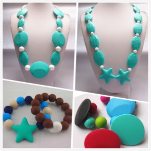Non-Toxic Bead Jewelry for Mum Wear with Silicone Rubber Material 04#