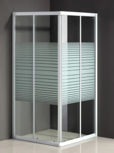 Hot Sale Square Shower Door Without Tray pictures & photos