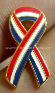 Ribbon Lapel Pin Metal Badge