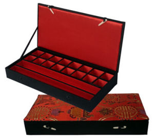 Red Cloth Storage Trinkets Collecting Box pictures & photos