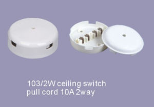 2W 10A 2 Way Pull Cord Ceiling Switch pictures & photos