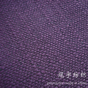Decorative Polyester Linen Fabric with Backing for Sofa pictures & photos