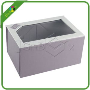 Custom Folding Paper Gift Box with PVC Window pictures & photos