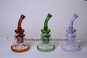Wholesale New Design Colored Glass Water Smoking Pipe Recycler