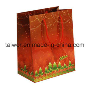 Taiwor Luxury Coated Paper Shopping Bag with Hanlde