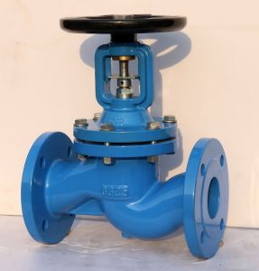 DIN cast iron PN16 steam system used bellow globe valve pictures & photos