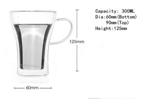 300ml Borosilicate Glass Double Wall Glass Cup pictures & photos