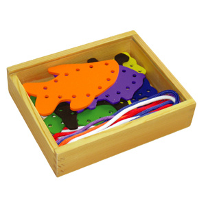 Wooden Lacing Toy with Farm Animals (80164-1) pictures & photos