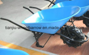 Steel Painted Tray Wheel Barrow with Tractor Wheel (Peru 80L) pictures & photos