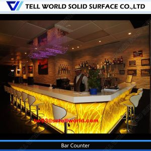 Modern Bank Bar Counter Solid Surface Bar Table pictures & photos