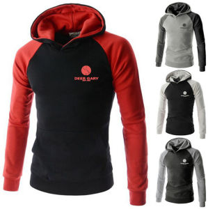 Unisex Black Cotton Hoodie Pullover Hooded Family Coat Sweater pictures & photos