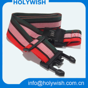 Adjustbale Colorful Combination Luggage Strap with Plastic Lock pictures & photos