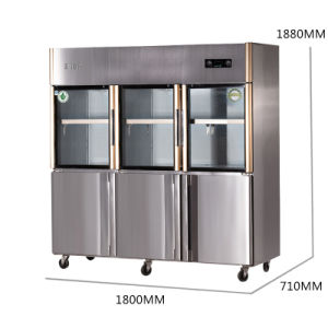 2016 New Products Double Temperature Six Doors Refrigerator for Kitchen pictures & photos