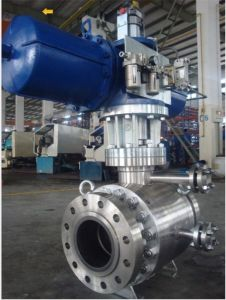 Double Block Doube Bleed Flanged Trunnion Mounted Ball Valve pictures & photos