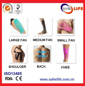 2017 Olympic Games Physio Therapy Tape Same as Kinesio Tex Tape Performance FDA Ce Private Logo Latex Free Therapeutic Precut Kinesiology Taping pictures & photos