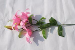 Lily Flower Artificial Lilies Bouquet Wedding Floral Home Decor Flower pictures & photos