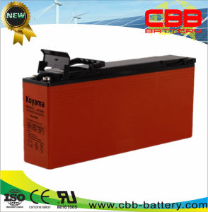 125ah 12V Front Terminal AGM Battery for Communication Systems pictures & photos