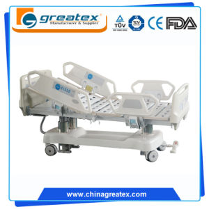 7 Functions Three Column Design Luxury ICU Bed with CPR Function (GT-XBE5029) pictures & photos