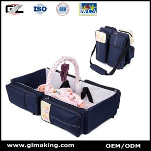 Portable Multifunctional Baby Royalblue Diaper Bag for Travel pictures & photos