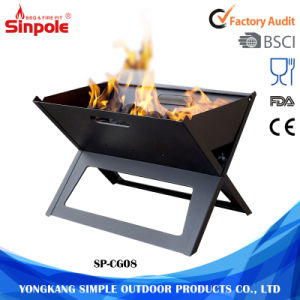 Multi-Function Cast Iron Portable Folding Indoor Charcoal BBQ Grill pictures & photos