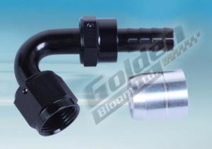 Aluminum 120 Degree Swivel Hose Ends with Crimp Style