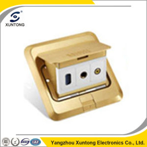 Xuntong Manufacutre Us Standard Open Type Mutlimedia Floor Socket pictures & photos