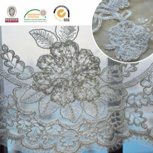 Wedding Dress Lace Sequins Embroidery with Beads pictures & photos