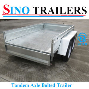 Sino Hot Sale Tandem Box Trailer in Different Size Available