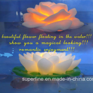 Flickering Battery Operated Outdoor Waterproof Plastic LED Lotus Flower pictures & photos