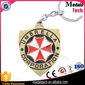 Company Umbrella Shape Antique Bronze Keychain for Souvenir pictures & photos