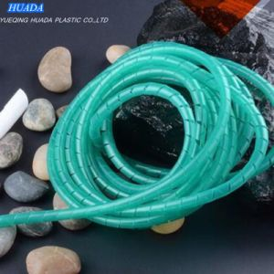 PE Polyethylene Spiral Cable Wire Wrap Tube White pictures & photos