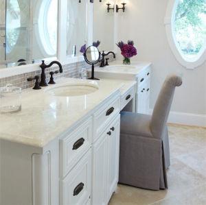 Kingkonree Caesarstone Quartz Stone Bathroom Corner Vanity pictures & photos
