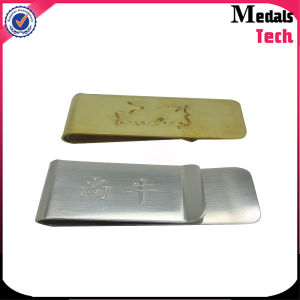 Custom Logo Metal Blank Money Clip (MTMC019) pictures & photos